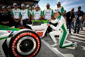 Pole Award Winner Colton Herta, Harding Steinbrenner Racing Honda
