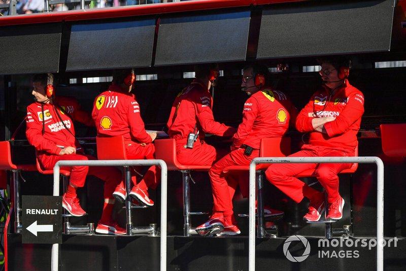Il muretto box Ferrari