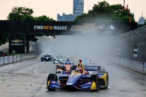 Start zu Rennen 1 beim Chevrolet Detroit Grand Prix 2019: Alexander Rossi, Andretti Autosport Honda, führt
