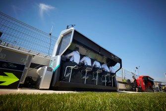 Mercedes AMG F1 pit wall