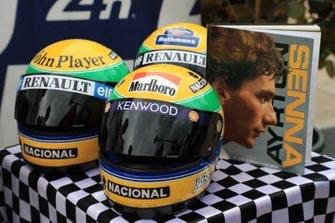 Ayrton Senna helmets