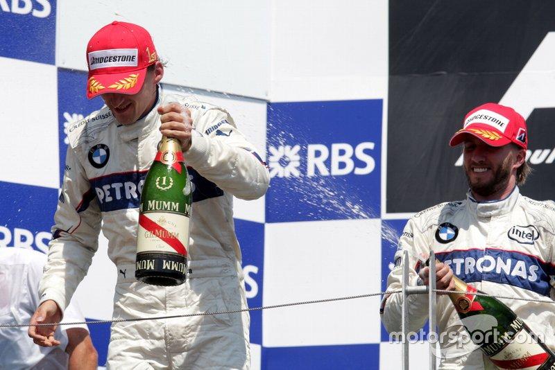 Il vincitore della gara Robert Kubica, Nick Heidfeld, BMW Sauber F1