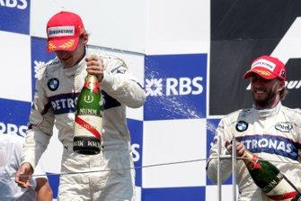 Yarış galibi Robert Kubica, Nick Heidfeld, BMW Sauber F1