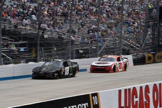 Riley Herbst, Joe Gibbs Racing, Toyota Supra Monster Energy and Kaz Grala, Richard Childress Racing, Chevrolet Camaro HotScream