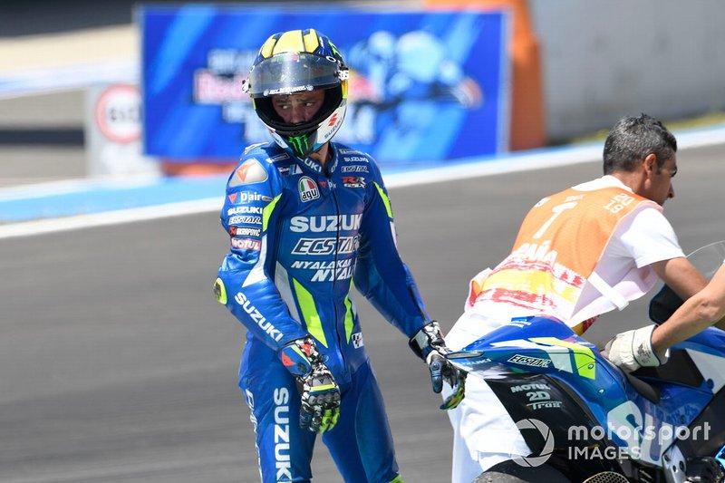 Joan Mir, Team Suzuki MotoGP después de su caída