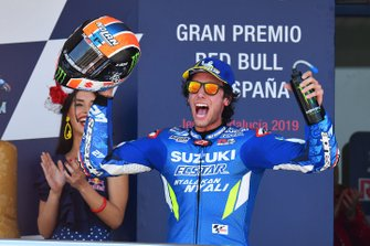 Il secondo classificato Alex Rins, Team Suzuki MotoGP