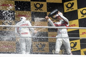 Podium, Nico Müller, Audi Sport Team Abt Sportsline, René Rast, Audi Sport Team Rosberg