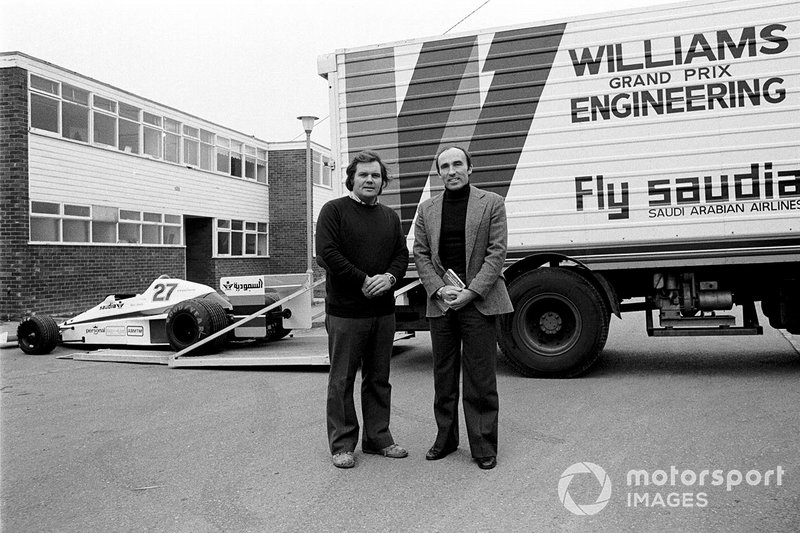 Patrick Head and Frank Williams at the launch of the Williams FW06 at their new Factory