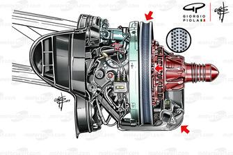 Передние тормоза Ferrari SF90: Гран При Франции