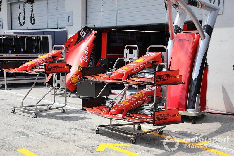 Alerones delanteros del Ferrari SF90