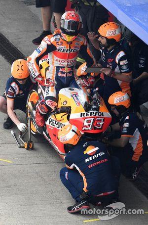 Marc Marquez, Repsol Honda Team, dans la pitlane