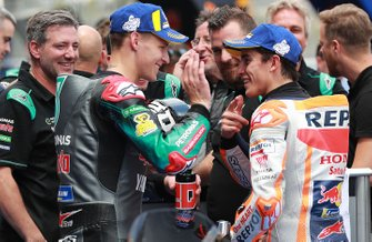 Обладатель поула Фабио Куартараро, Petronas Yamaha SRT, третье место – Марк Маркес, Repsol Honda Team