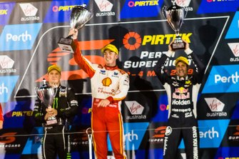 Podium: 1. Scott McLaughlin, 2. Jamie Whincup, 3. Cameron Waters