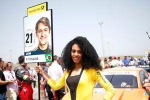 Grid girl of Pietro Fittipaldi, Audi Sport Rosberg