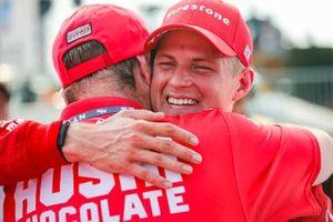 Marcus Ericsson, Chip Ganassi Racing Honda fête sa première victoire en IndyCar