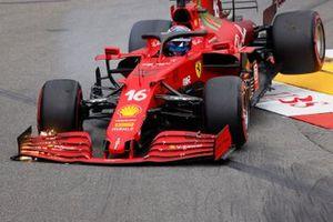 Charles Leclerc, Ferrari SF21 crashes