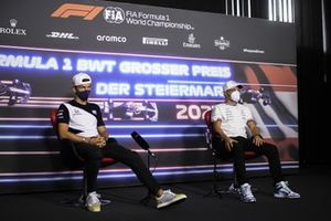 Pierre Gasly, AlphaTauri and Valtteri Bottas, Mercedes in the Press Conference