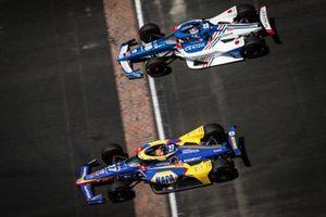 Alexander Rossi, Andretti Autosport Honda, Tony Kanaan, Chip Ganassi Racing Honda