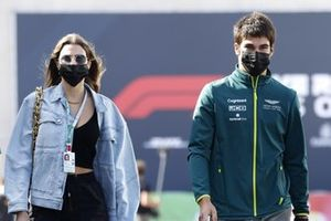 Lance Stroll, Aston Martin with his girlfriend Sara Pagliaroli
