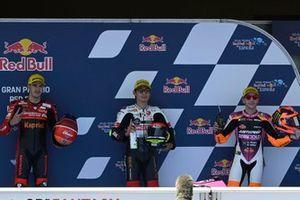 I primi 3 Qualificati: Tatsuki Suzuki, SIC58 Squadra Corse, Jeremy Alcoba, Team Gresini Moto3, Andrea Migno, Rivacold Snipers Team