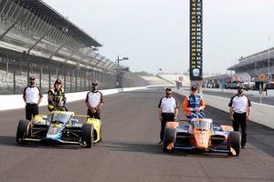 Indy-500-Polesitter 2021: Scott Dixon, Chip Ganassi Racing Honda, 2. Colton Herta, Andretti Autosport Honda
