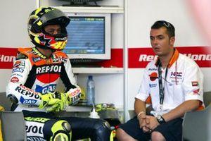 Valentino Rossi, Repsol Honda Team, mit Alessio