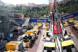 Monaco FE pit lane
