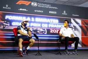 Yuki Tsunoda, AlphaTauri and Daniel Ricciardo, McLaren in the Press Conference