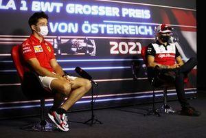 Charles Leclerc, Ferrari Kimi Raikkonen, Alfa Romeo Racing
