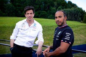 Toto Wolff, Team principal Mercedes and Lewis Hamilton, Mercedes