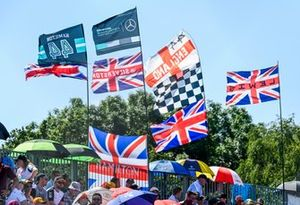 Crowd support for Lewis Hamilton, Mercedes