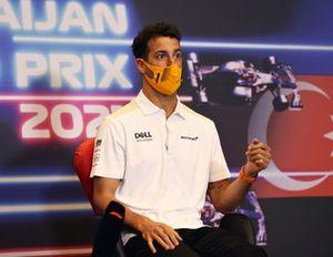 Daniel Ricciardo, McLaren at press conference