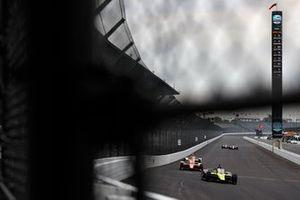 Ed Jones, Dale Coyne Racing with Vasser Sullivan Honda, Felix Rosenqvist, Arrow McLaren SP Chevrolet, Juan Pablo Montoya, Arrow McLaren SP Chevrolet