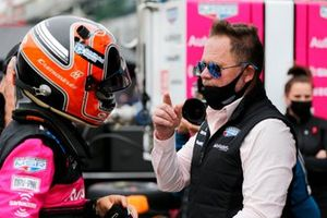 Helio Castroneves, Meyer Shank Racing Honda, mit Michael Shank