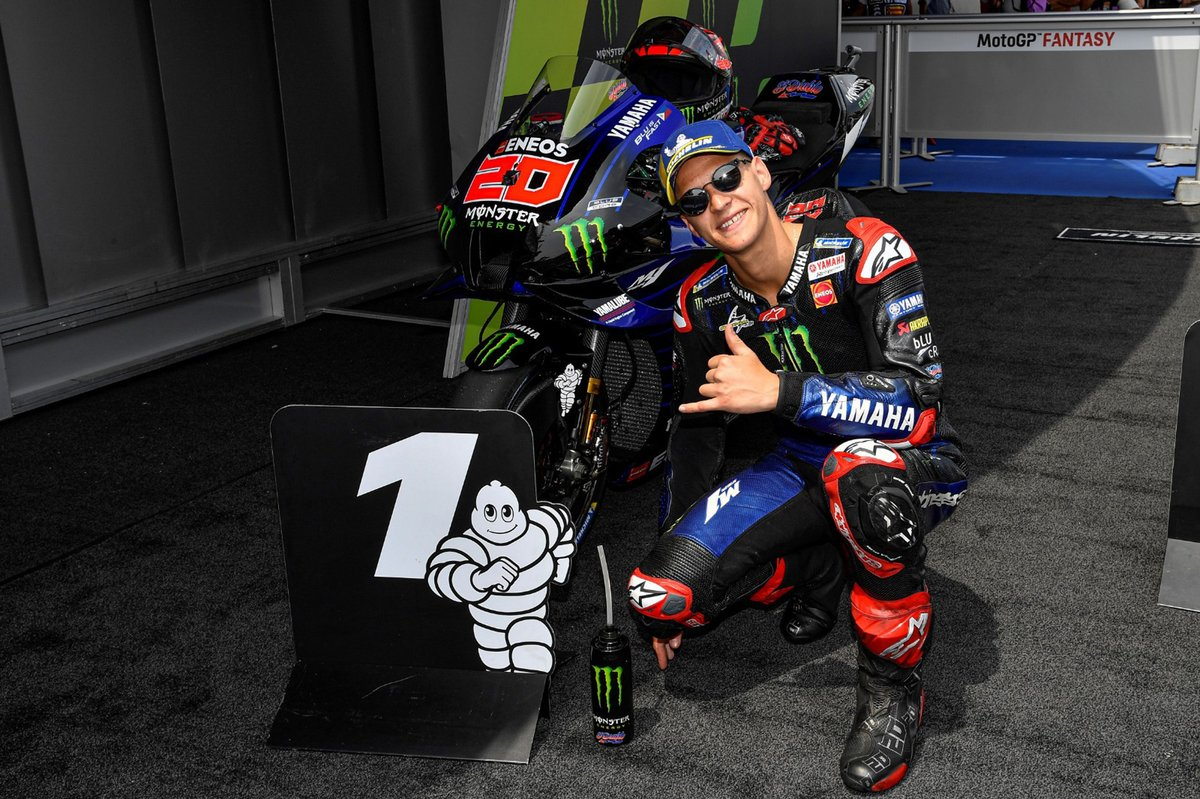 Ganador de la pole Fabio Quartararo, Yamaha Factory Racing