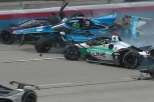 Crash at race start