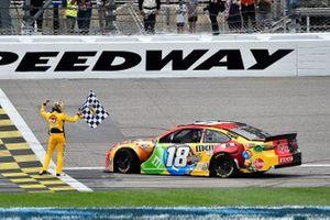 Kyle Busch, Joe Gibbs Racing, Toyota Camry M&M's Mix wins.
