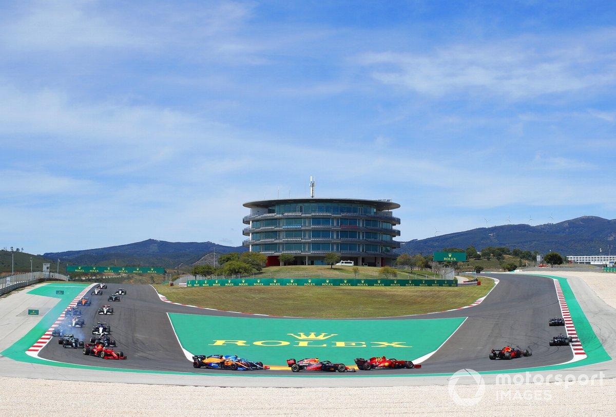 Valtteri Bottas, Mercedes W12, Lewis Hamilton, Mercedes W12, Max Verstappen, Red Bull Racing RB16B, Carlos Sainz Jr., Ferrari SF21, Sergio Pérez, Red Bull Racing RB16B, Lando Norris, McLaren MCL35M