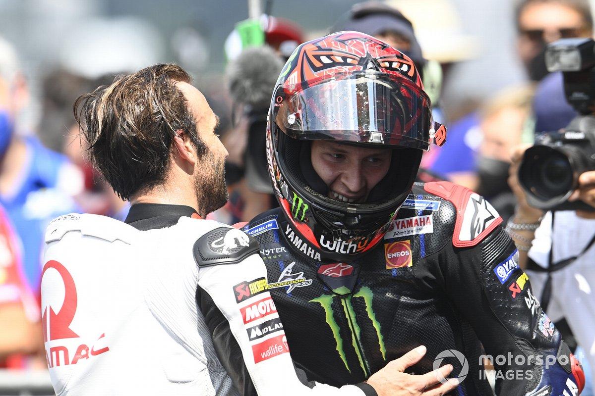Ganador Fabio Quartararo, Yamaha Factory Racing, Johann Zarco, Pramac Racing
