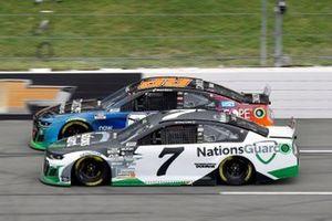 Corey LaJoie, Spire Motorsports, Chevrolet Camaro Nations Guard and Daniel Suarez, TrackHouse Racing, Chevrolet Camaro CommScope