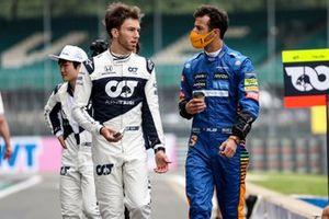 Pierre Gasly, AlphaTauri en Daniel Ricciardo, McLaren