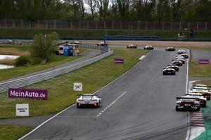 #20 Team Zakspeed Mobil Krankenkasse Racing Mercedes-AMG GT3 Evo: Constantin Schöll, Hendrik Still at the Penalty Zone