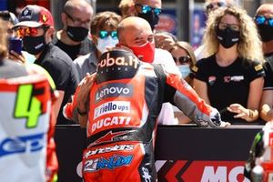 Podio: ganador de la carrera Michael Ruben Rinaldi, Aruba.It Racing - Ducati, Claudio Domenicali