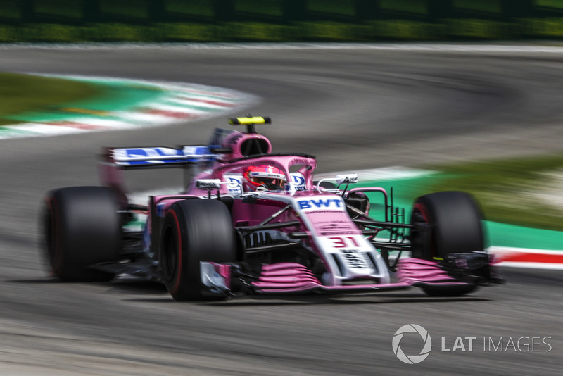 8: Естебан Окон, Racing Point Force India VJM11, 1.21,099