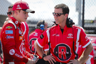 Christopher Bell, Joe Gibbs Racing, Toyota Camry Rheem and crew chief Jason Ratcliff