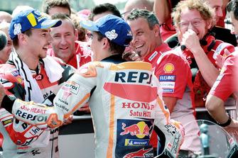 Winner Jorge Lorenzo, Ducati Team, second place Marc Marquez, Repsol Honda Team