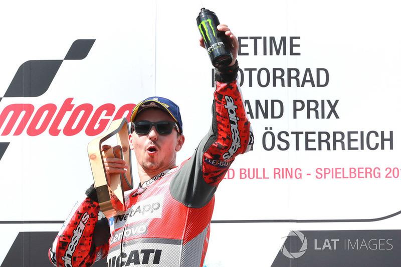 Il vincitore della gara Jorge Lorenzo, Ducati Team