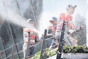 Podium: 1. Jorge Lorenzo, 2. Marc Marquez, 3. Andrea Dovizioso