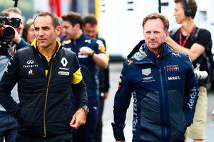 Cyril Abiteboul, Managing Director, Renault Sport F1 Team, con Christian Horner, Team Principal, Red Bull Racing