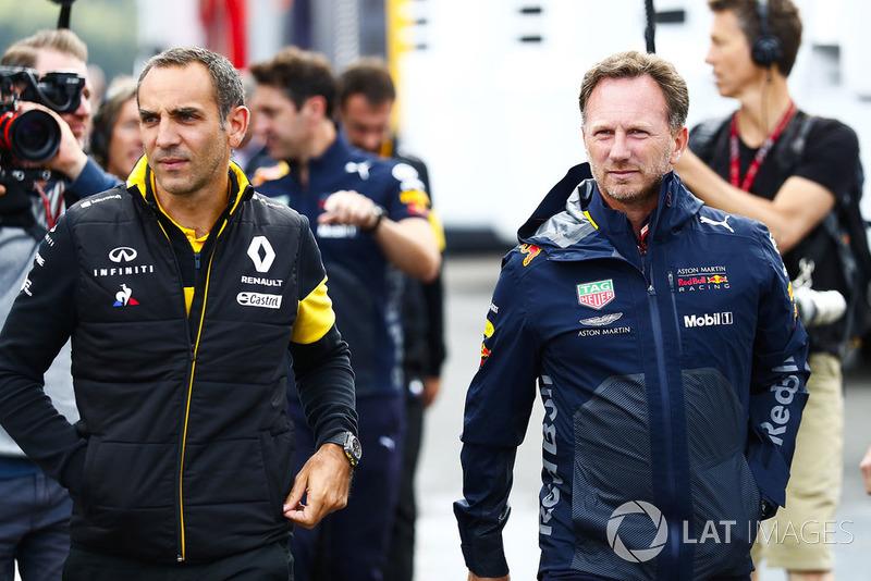 Керівник Renault Sport F1 Team Сіріль Абітбуль, керівник Red Bull Racing Крістіан Хорнер